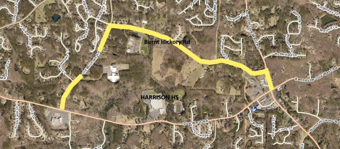 Alternate route advised during Harrison High School construction